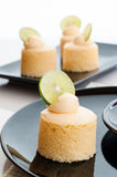Tasty homemade japanese cheesecake with butter cream. Stock Photography