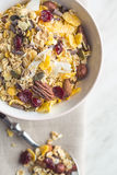 Tasty homemade muesli with nuts. Stock Photography