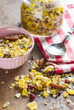 Tasty homemade muesli with nuts. Royalty Free Stock Photography