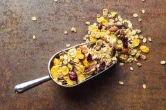 Tasty homemade muesli with nuts. Stock Image