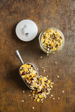 Tasty homemade muesli with nuts. Royalty Free Stock Images