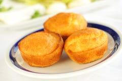 Tasty homemade salty cupcakes , Balkan bread from corn , Proja royalty free stock photo