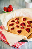 Tasty homemade strawberry pie Stock Images