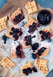 Tasty homemade waffles Royalty Free Stock Photo
