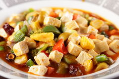 Tasty and hot chinese food Stock Photo