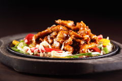 Tasty and hot chinese food Stock Images