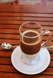 Tasty Hot Chocolate Drink With Condensed Milk Stock Photo