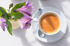 Tasty, hot and delicious coffee. Royalty Free Stock Photo