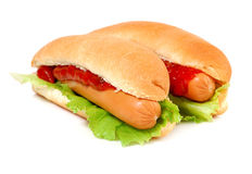 A tasty hot-dog Stock Photography