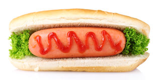 Tasty hot dog Stock Photo