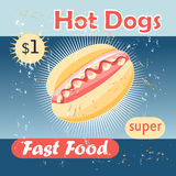 Tasty hot dog Royalty Free Stock Images