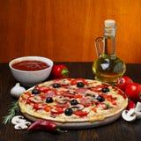 Tasty hot pizza Stock Image