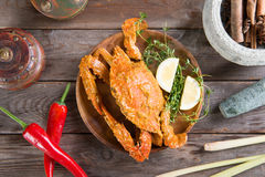 Tasty hot and spicy chili crab Stock Photography