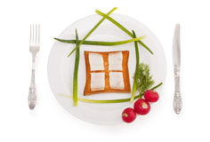 Tasty house with window Royalty Free Stock Photography