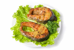 Tasty hunchback salmon fish Stock Images