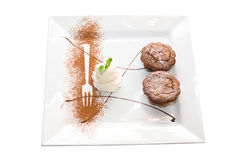 Tasty  ice-cream chocolate desserts Royalty Free Stock Photo