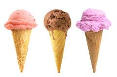 Tasty ice cream isolated on white Stock Images