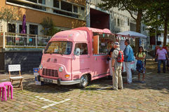 Tasty ice cream from a van. Royalty Free Stock Images