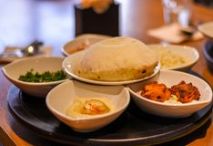Tasty Indian cuisine stock images