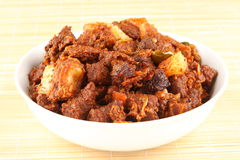 Tasty Indian mutton fry. Stock Photos