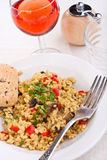 Tasty italian mushroom risotto Stock Photo