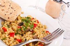 Tasty italian mushroom risotto Stock Image