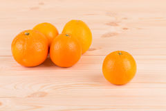 Tasty italian oranges on wood table. Stock Photography