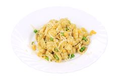 Tasty italian pasta gnocchi. Royalty Free Stock Images