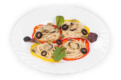 Tasty italian pasta with seafood Royalty Free Stock Photography