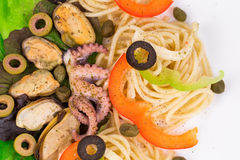 Tasty italian pasta Stock Images