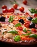 Tasty Italian pizza Stock Photography