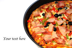 Tasty italian pizza freshly baked Royalty Free Stock Image