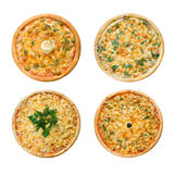 Tasty Italian pizza. Isolated Royalty Free Stock Photos