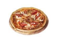 Tasty Italian pizza over white. Tasty Italian, pizza over white Stock Photos