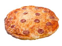 Tasty Italian pizza Pepperoni.isolated Stock Photo