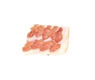 Tasty italian salted prosciutto. Stock Photos