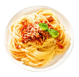 Tasty Italian spaghetti with ground beef Royalty Free Stock Image