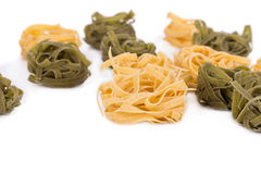 Tasty italian tagliatelle pasta. Royalty Free Stock Photography