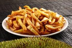 Tasty jack fruit chips fried in coconut oil. Stock Image