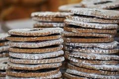 Tasty jam biscuits Stock Photo