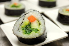 Tasty japanese food. Sushi Roll background. Stock Photo