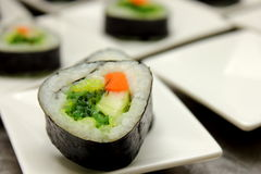 Tasty japanese food. Sushi Roll background. Royalty Free Stock Images
