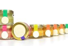 Tasty jars of jam and honey cream Royalty Free Stock Photo