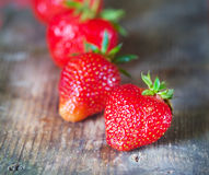 Tasty juicy bright red strawberry Stock Image