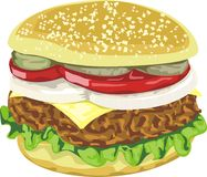 Tasty juicy hamburger Royalty Free Stock Photography