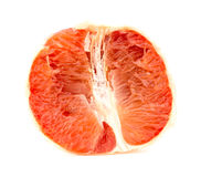 Tasty juicy pink grapefruit flesh Stock Photos