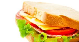 Tasty juicy sandwich Royalty Free Stock Photos