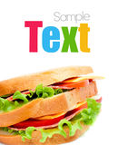 Tasty juicy sandwich Stock Photo