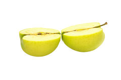 Tasty juicy sliced apples on a white background Stock Photography