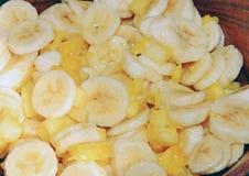 Tasty kitchen. Sweet banana salad Royalty Free Stock Photos